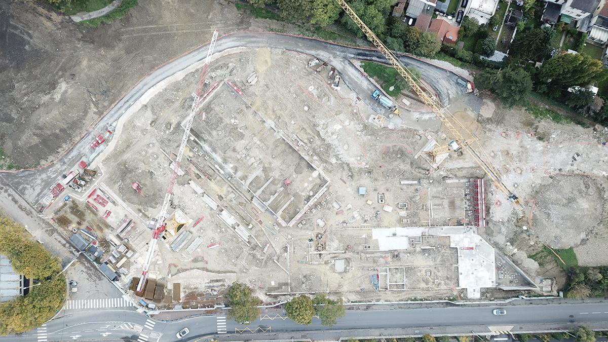 Janvier 2020 - Construction des fondations du bâtiment
